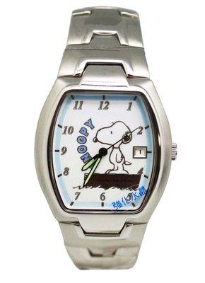 【卡漫迷】 Snoopy 手錶 日期功能 ㊣版 不銹鋼 強化水晶玻璃 史努比 男錶 女錶 卡通錶 史奴比 七折出清