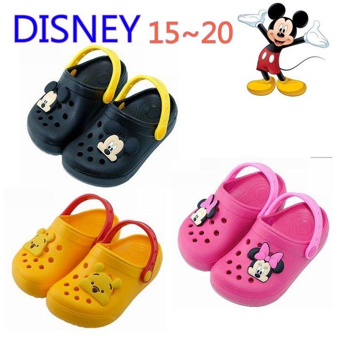 2020新款DISNEY米奇~米妮~維尼熊洞洞鞋~園丁鞋~水涼鞋