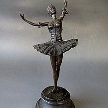 【 金王記拍寶網 】J3119  西洋近代銅雕 芭蕾舞女孩 銅雕一尊 罕見 稀少