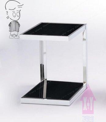 【X+Y時尚精品傢俱】現代客廳系列-諾威 玻璃方型小邊几.小茶几.強化玻璃+不銹鋼.摩登家具