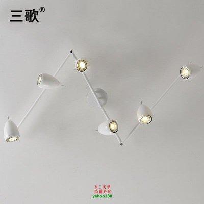{美學}美式背景墻射燈led軌道簡約客廳明裝北歐現代長桿射燈MX_802