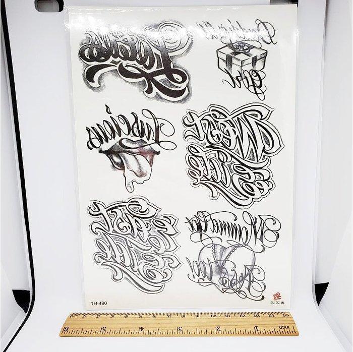 【萌古屋】美式英文大圖 - 防水紋身貼紙刺青貼紙TH-480