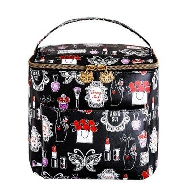☆Juicy☆日本雜誌附錄 ANNA SUI  貓咪 蝴蝶 化妝包 化妝箱 旅行過夜包 收納包 萬用包 小物包 2408