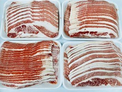 『極鮮味』【牛五花火鍋肉片/培根牛火鍋肉片/胸腹肉(非重組肉)】海鮮直播、批發零售、筵席食材。※年菜最佳首選※