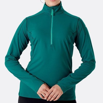 RAB 兩色可選 女款 Flux Pull On 高領半拉鍊長袖排汗衣 QFF09 綠野山房