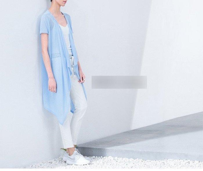 (老銀屋)設計款縷空輕盈的針織開衫/罩衫