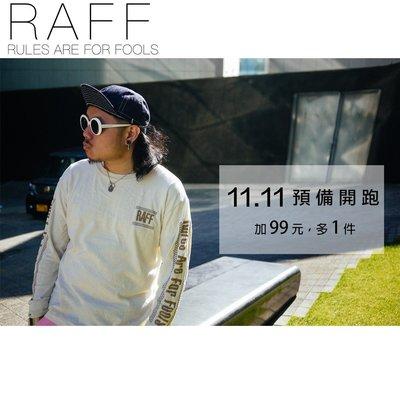 M.O.S1126 香港RAFF acrylic cotton Long Sleeve Tee 卡其米 長袖 復古 男女