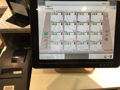 二手 凌成科技觸控螢幕POS機系統(主機+錢箱+二聯式發票*1+出單機*2),整組賣