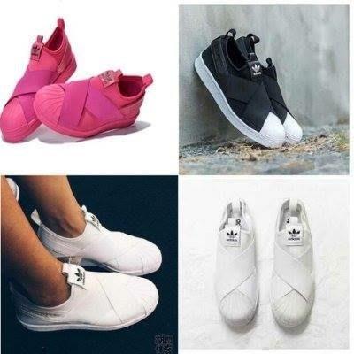 免運免運 【日貨代購屋】代購 日本正品 ADIDAS SUPERSTAR SLIP ON W 十字交叉球鞋 便利 好穿