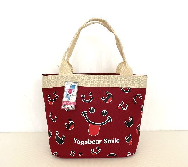 【YOGSBEAR】台灣製造 A2 手提袋 手提包 購物包 便當袋 餐袋 水餃包 手拿包 D51 紅