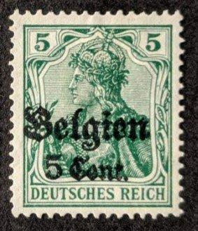 1916年德意志帝國佔領比利時王國Germania郵票5cents