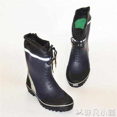 雨靴 雨鞋男 雨靴 春秋中筒防滑時尚水鞋水靴防臭橡膠鞋釣魚靴套鞋   全館免運
