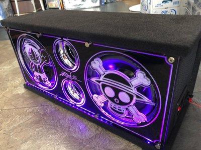 航海王 毒蠍雙8吋 被動式500W 超低音喇叭