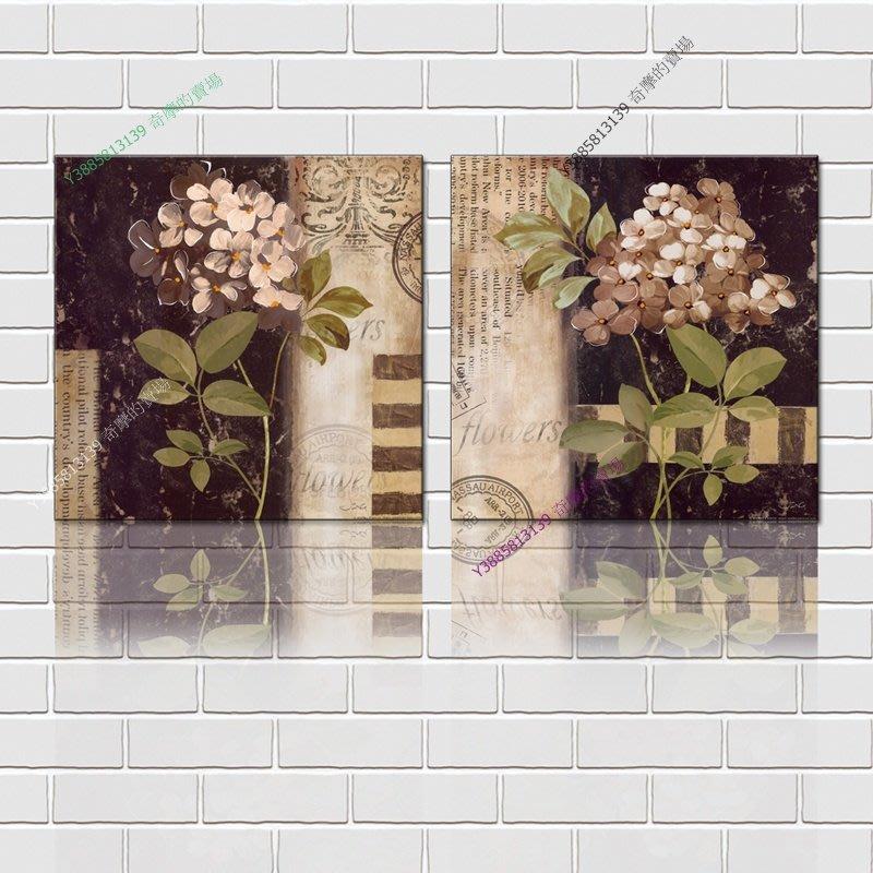 【60*60cm】【厚2.5cm】印象花卉-無框畫裝飾畫版畫客廳簡約家居餐廳臥室牆壁【280101_183】(1套價格)