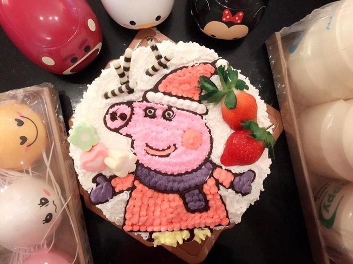 ❤ 歡迎自取 ❥ 雪屋麵包坊 ❥ 粉紅豬款式 ❥ 佩佩豬 ❥ 六吋生日蛋糕 ❥❥ 9 折優惠中