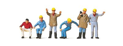 傑仲 (有發票) 博蘭 公司貨 Preiser 人物組 Crane personnel 10037 HO