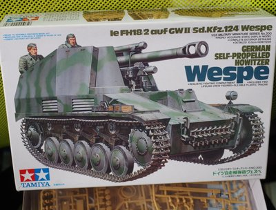 Tamiya-田宮-35200-GERMAN- SP HOWITZER- WESPE-w/crew -加拍賣費3元-M-250