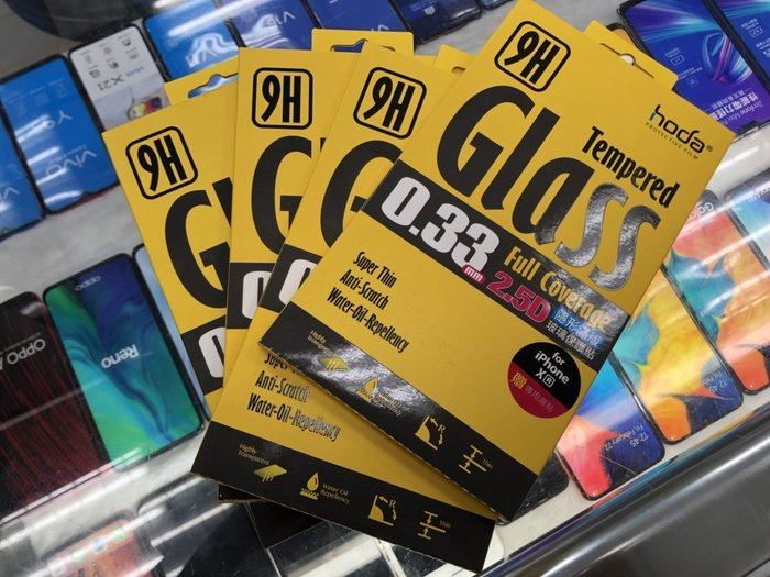 hoda IPHONE  XR 高透光 0.33mm 2.5D 9H 滿版 鋼化玻璃保護貼
