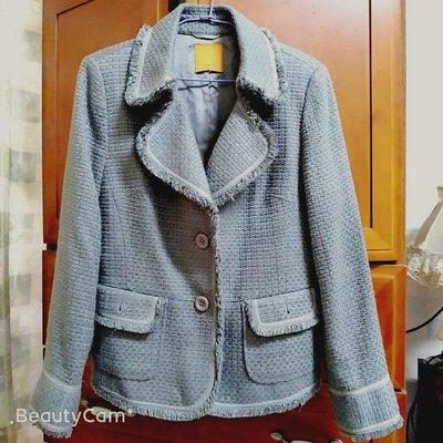 Theme香奈兒款灰色流蘇外套