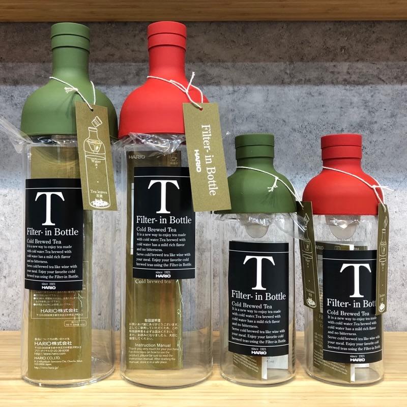 Hario酒瓶冷泡茶壺 水壺 秋葵綠茶 300ml FIB-30 紅綠『93 coffee』