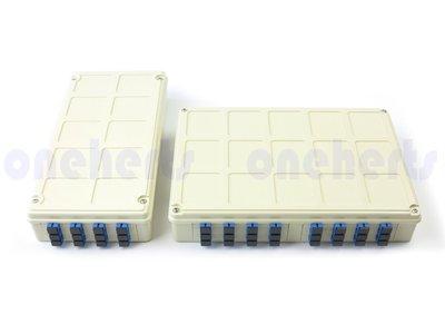 專業 ABS 12口塑鋼壁掛式光纖終端盒 全配 可以搭配SC FC LC耦合器及豬尾巴 12路終端盒 末端盒 光纖盒