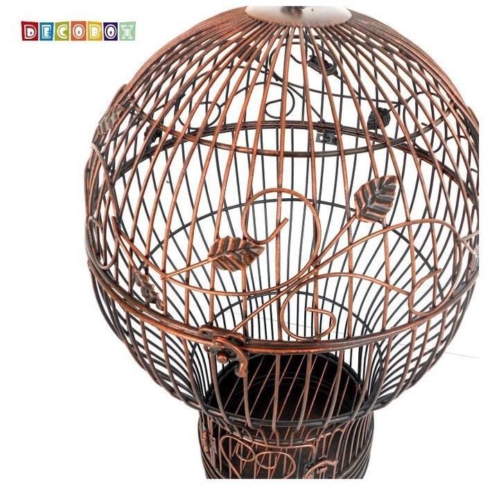 DecoBox燈泡古銅中花架(鳥籠,燈泡花架,園藝,花台,花插,鍛鐵展示架)