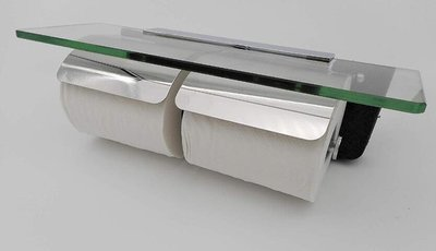 13175c 日本進口 好品質 日式 304不鏽鋼 雙捲 手機鑰匙錢包置物收納層架 捲筒面紙架盒衛生紙盒紙巾收納盒禮品