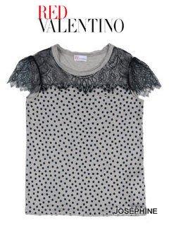 喬瑟芬【RED VALENTINO】特價~2012春夏 圓點 蕾絲 MODAL 上衣(S,M,L,XL號)