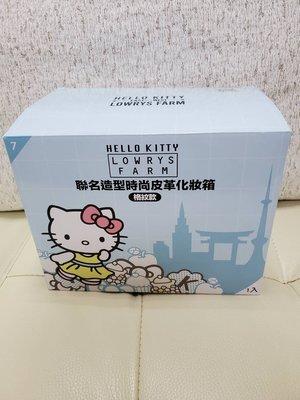 7-11 Hello Kitty 三美聯名 【造型時尚皮革化妝箱格紋款】現貨1只!!