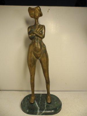 【 笑一笑 】銅雕--早期 抽象裸女