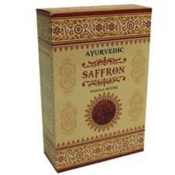 [綺異館] 印度線香 阿育吠陀 AYURVEDIC SAFFRON 蕃紅花 新品上市 3盒100