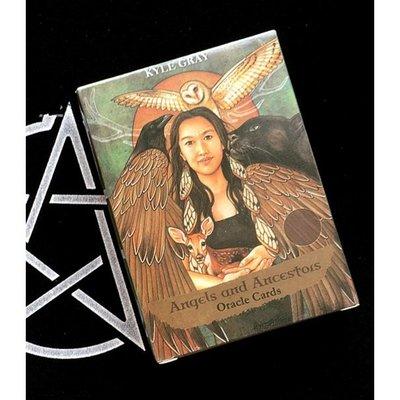 Angels And Ancestors Oracle 天使與祖先神諭卡 占卜卡牌 塔羅 韋特塔羅牌 神諭卡 英文版  星期八雜貨鋪GJTYU