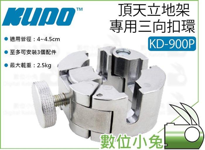 數位小兔【KUPO KD-900P 頂天立地架 專用三向扣環 時尚銀】甜甜圈 手銬 夾座 天地桿 夾具 天地架 安裝夾