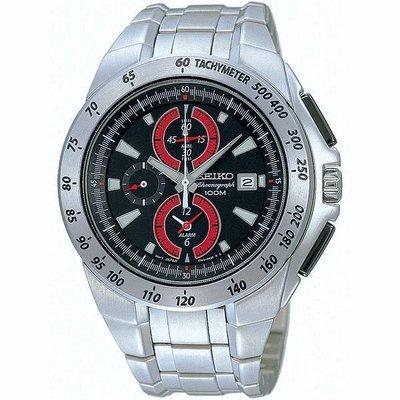 SEIKO WATCH 精工飆風戰警鬧鈴三眼計時紅圈原廠公司貨腕錶 型號:SNAB07J1【神梭鐘錶】