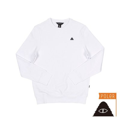 POLER - EYE PATCH CREW 山形眼補丁棉T / 衛衣 (白色) S/M/L