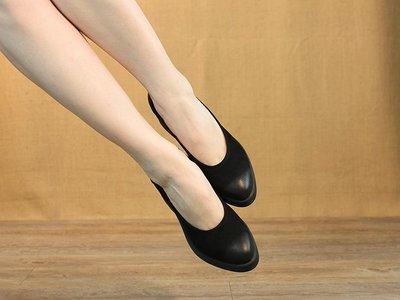 *姑涼家*春夏款職業浅口真皮 中跟方跟女皮鞋 舒適软底真皮女士鞋