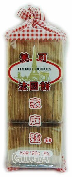 【吉嘉食品】美可法國餅(法蘭酥)家庭號經濟包/蛋素(500g).每包500公克[#1]{4033}
