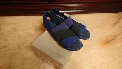 百貨專櫃 CAMPER 藍色 皮革 休閒鞋 平底鞋 涼鞋 女鞋 39號