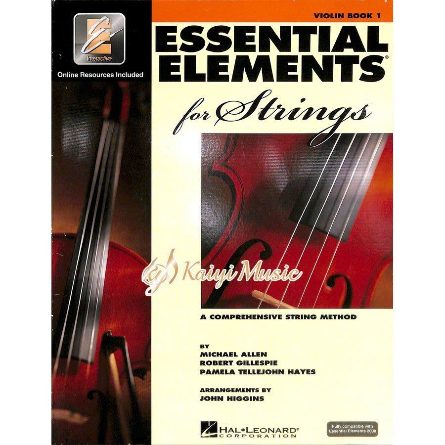 【Kaiyi Music】Essential elements violin book 1 小提琴教材 樂譜