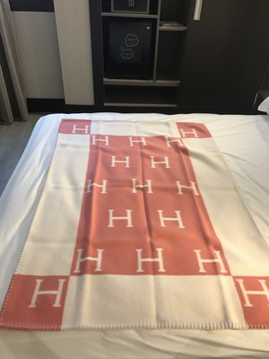 「正品」Hermes 愛瑪仕 經典 baby 專用 純喀什米爾羊毛毯