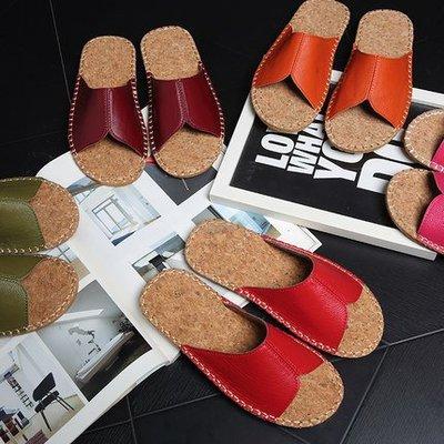 夏季居家牛皮拖鞋女室内防滑木地板牛筋底凉拖鞋海宁牛皮拖鞋男式