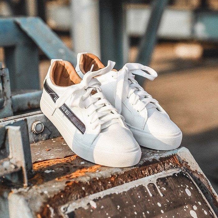 夏季男士平底鞋低幫休閑鞋子青少年學生透氣運動鞋潮流百搭男板鞋春秋新款 休閒男裝