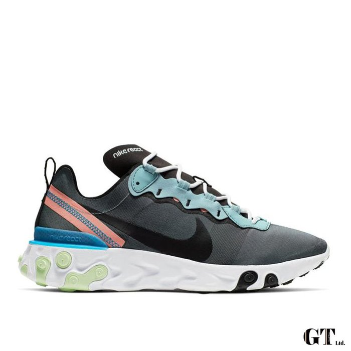 【GT】Nike React Element 55 灰 男鞋 低筒 運動鞋 慢跑鞋 休閒鞋 BQ6166-300