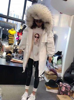 韓版冬季收腰保暖加厚棉大衣連帽外套毛領長版外套
