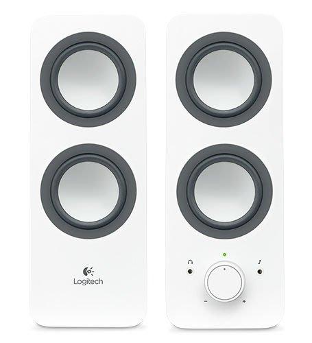 【鳥鵬電腦】Logitech 羅技 Z200 多媒體揚聲器 白 耳機插孔 BASS 低音調整 飽滿立體聲