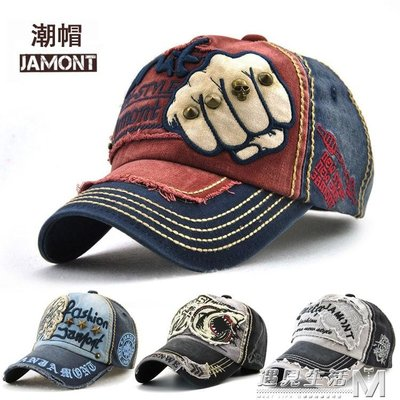 折扣促銷 男女士帽子圓頂棒球帽牛仔純棉布時尚戶外遮陽休閒帽街頭鴨舌帽潮