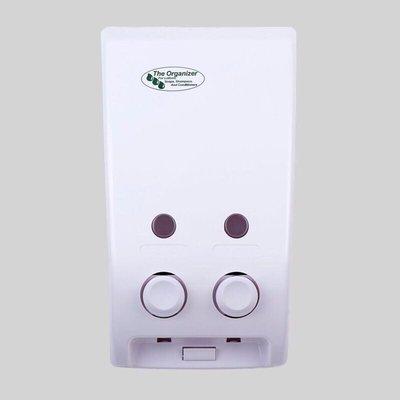 D1-02台灣製 雙孔給皂機  給皂機 兩孔給皂機 沐浴乳 肥皂機 洗手罐 沐浴罐 二孔給皂機