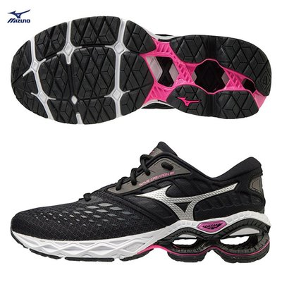 MIZUNO WAVE CREATION 21 女鞋 慢跑 避震 輕量 彈力 耐磨 黑J1GD200116零碼
