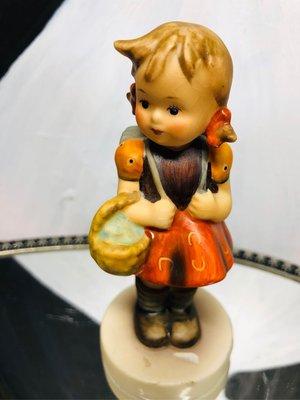 德國收藏級Hummel 喜姆娃娃 上學女孩 School Girl 1972~