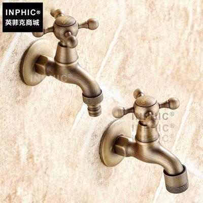 INPHIC-歐式全銅4分洗衣機龍頭 復古加長快開入墻水嘴加厚單冷水龍頭_S1360C